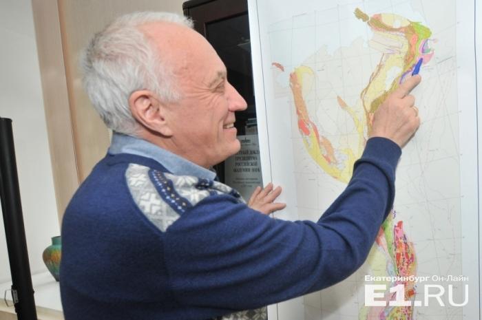 Геодинамическая карта Урала, над которой много лет трудились ученые: на ней можно разглядеть, что происходило в наших краях миллиарды лет назад.