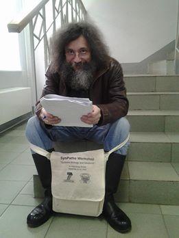 Михаил Гельфанд, Даниил Наумов и наш завтрашний лектор Александр Шень — с Даниилом Наумовым